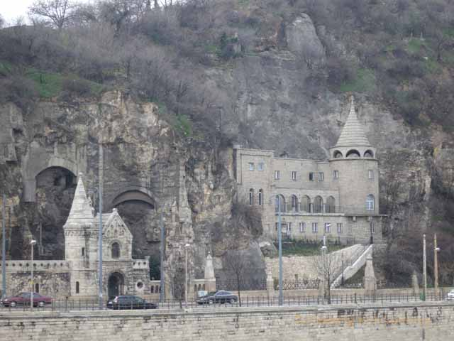 """Cave Church, Budapest, at the western end of the Elizabeth Bridge"""