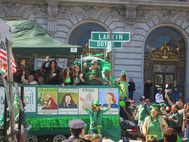"""""Honoring Celtic Women"" was the theme for this year's San Francisco St. Patrick's Day parade"""