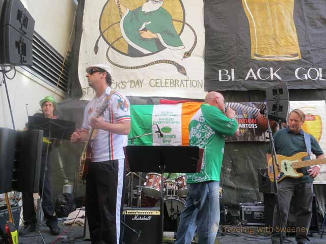 """Irish Rebel band, the Bog Savages playing at The Irish Bank"""