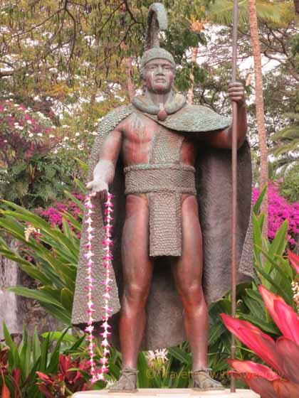 """King Kamehameha sculpture at Grand Wailea"""