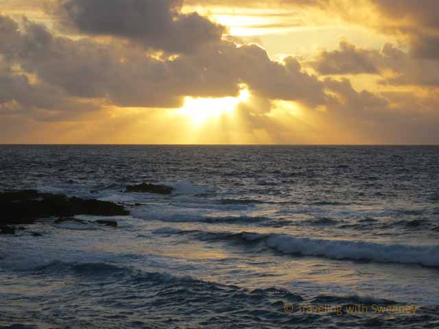 """Sunrise in Hana, on the northeast coast of Maui"""