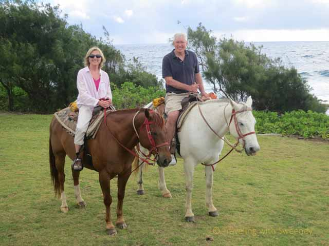 """""""On horseback along the Hana coast, Maui"""""""