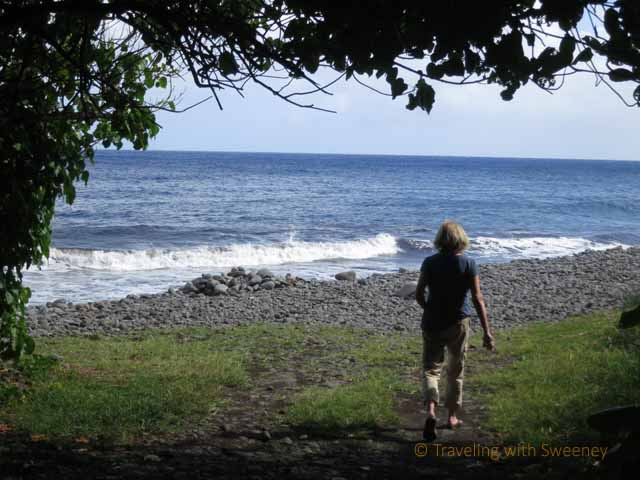 """Rocky beach along Haleakala backside road, Maui"""