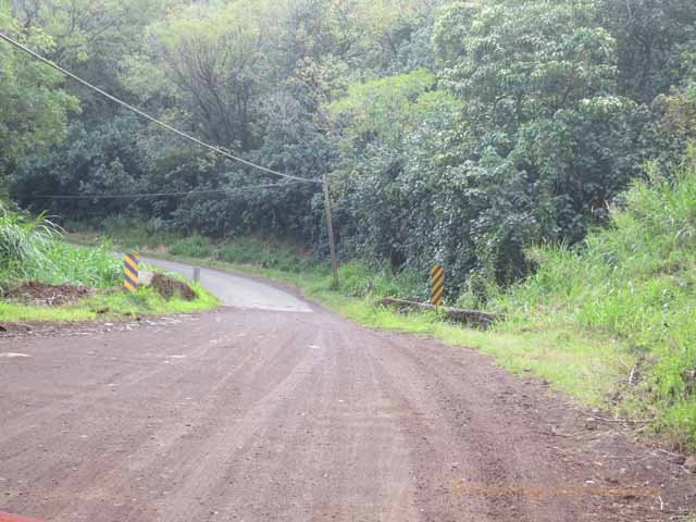 """Unpaved portion of road from Hana along backside of Haleakala Mountain"""