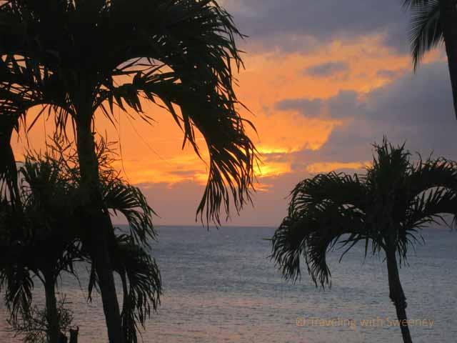 """Maui sunset from Napili Kai Beach Resort"""