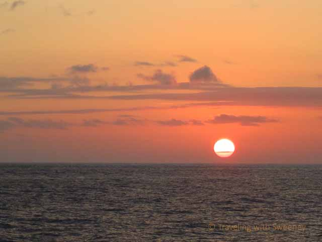 """Maui Sunset from ferry from Lahaina to Molokai"""