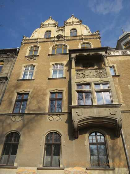 """Exterior of building in the Palace District, Budapest"""