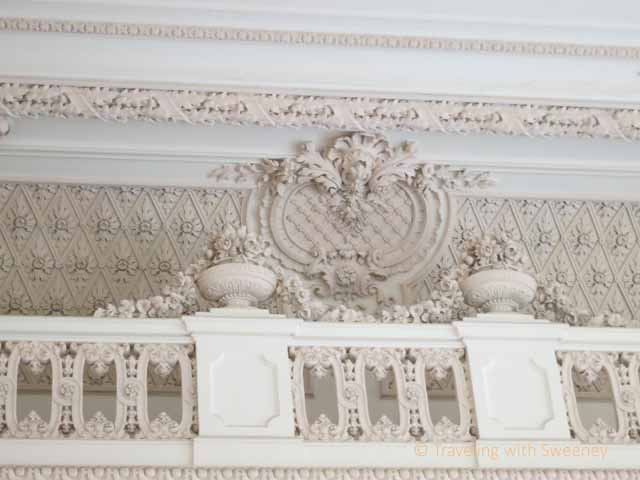 """Elaborate interior design of old palace in Budapest District 8, now Andrassy University"""