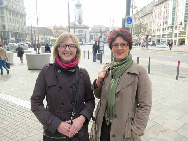 """Catherine Sweeney and Eniko Bekes in Budapest"""