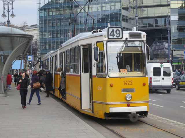 """Getting around Budapest by tram is easy"""