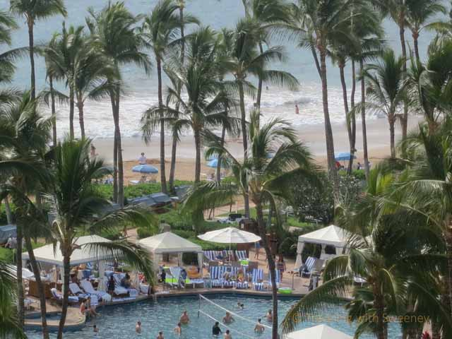 """""""View from our Molokini Wing room at Grand Wailea, Maui"""""""