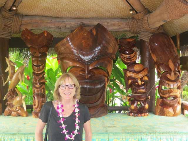 """Hawaiian wood carvings at Grand Wailea, Maui"""