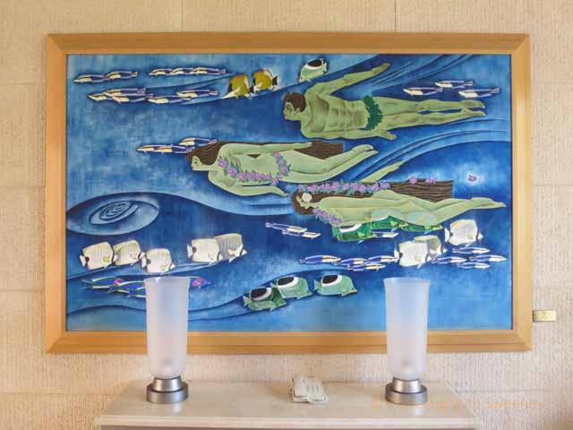 """""""Water, a painting by Zhou Ling in the Grand Wailea art collection"""""""