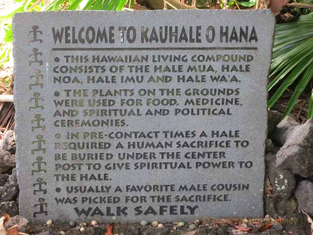 """Kauhale O Hana Compound sign, Maui"""