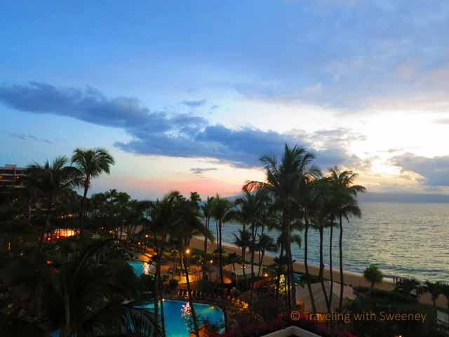 """View from ocean-view room at Westin Maui"""