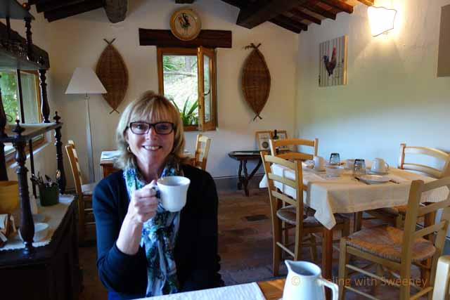 """""""Enjoying coffee and fresh pastries in the breakfast room of Torre Fantini"""""""