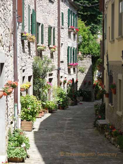 """A quiet street in Portico di Romagna"""
