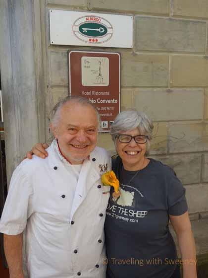 """""""Giovanni Cameli and Marisa Raggi at Al Vecchio Convento in Portico di Romagna"""""""