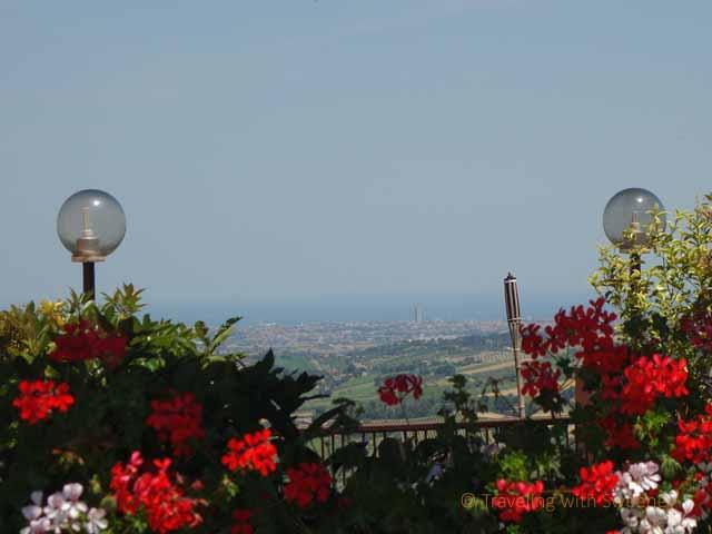 """""""View of Rimini and the Adriatic Sea from La Rocca, Verucchio"""""""