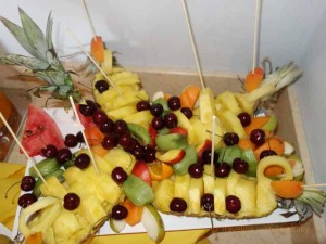 """Fresh fruit at breakfast buffet at Il Casale dell""arte, Le Case Antiche, Verucchio, Italy"""