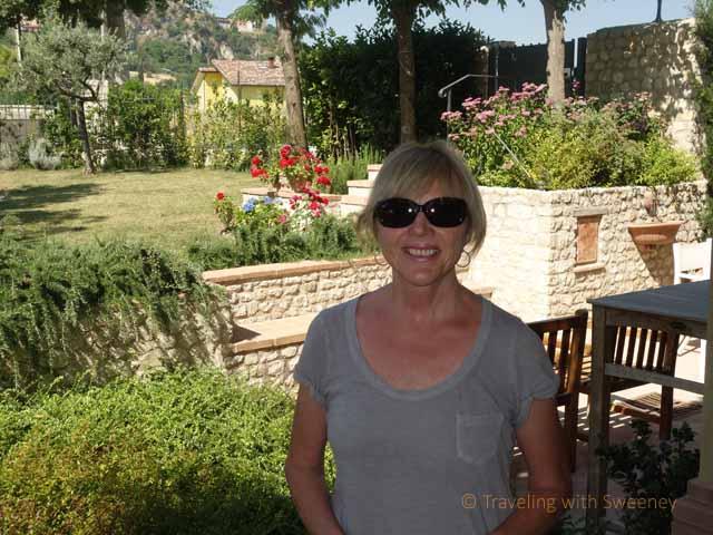 """""""Front patio at Le Case Antiche, Il Casale della'Arte in Verucchio, Italy"""""""