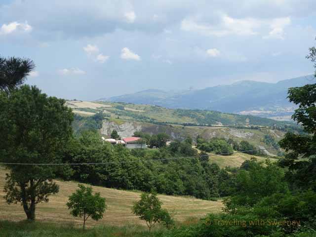 """View of Montefeltro Hills at Pereto, Italy"""
