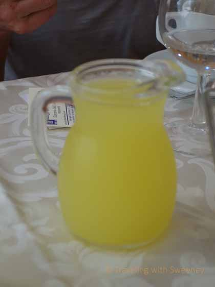 """Refreshing liimoncello at Trattoria Ciccioni in Emilia-Romagna region of Italy"""