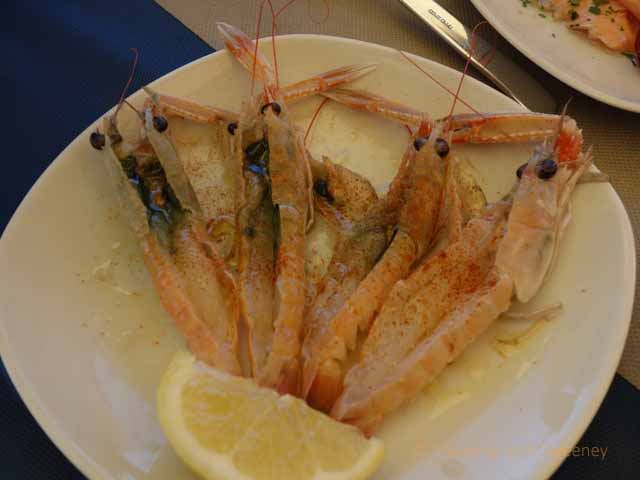 """Puglia scampi with lobster-like claws at Balnearea Beach, Otranto, Italy"""