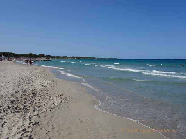 """Balneara Beach on the Adriatic Sea in Otranto, Italy"""