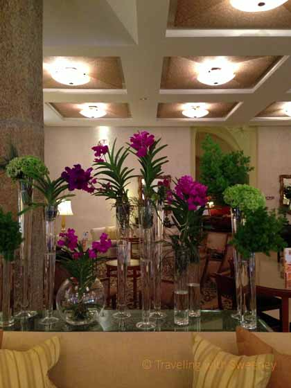 """""""Flowers in the lovely lobby of the Four Seasons Milan"""""""