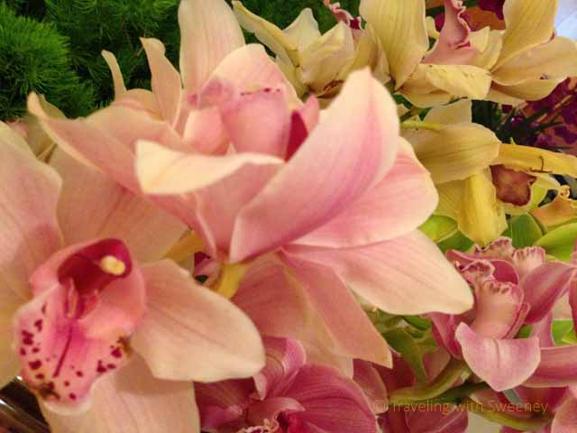 """Beautiful floral displays at the Four Seasons Milan, Italy"""