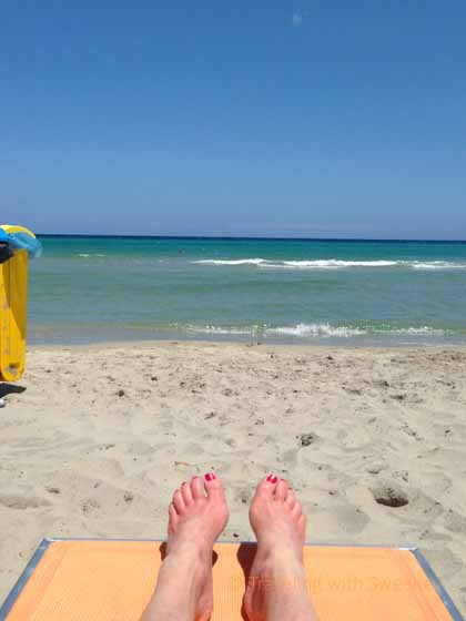 """Relaxing on Balnearea Beach, Puglia"""
