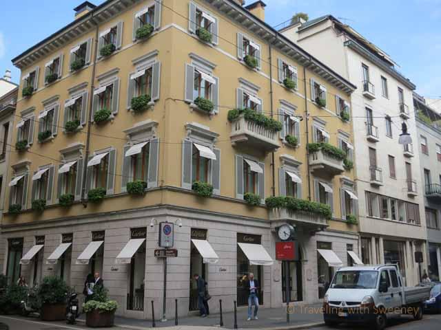 """Cartier's flagship store in Milan on Via Montenapoleone"""