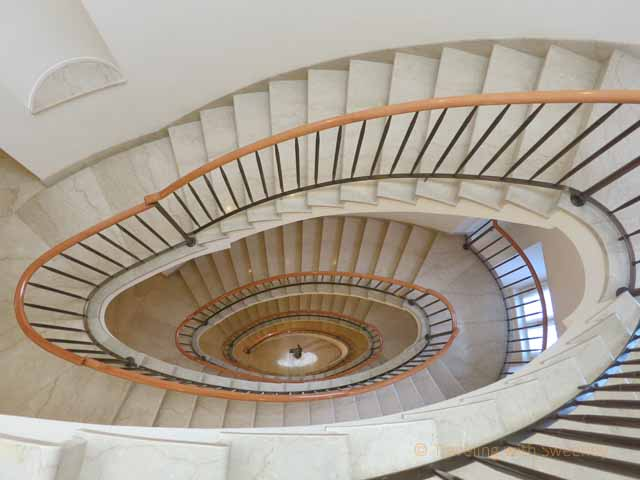 """Art Nouveau spiral staircase at the Four Seasons Milan"""