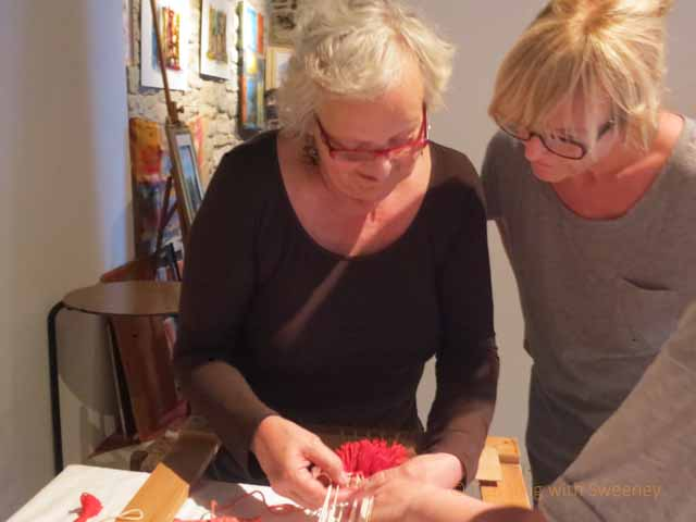 """Learning weaving techniques from Guiliana in Portico di Romagna, Italy"""