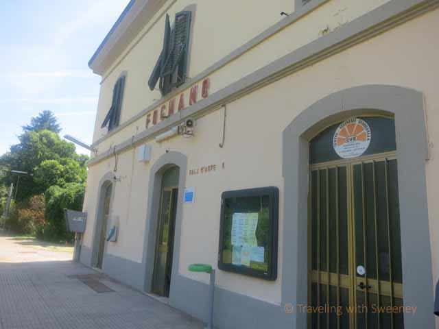 """Exterior of Fognano, Italy railway station"""