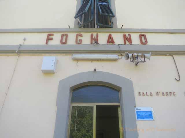"""Fognano railway station in Emilia-Romagna region of Italy"""