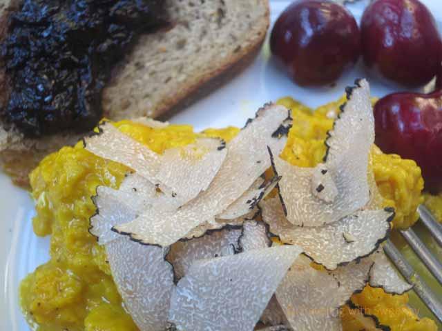 """""""Shaved truffle on scrambled eggs at Al Vecchio Convento, Portico di Romagna, Italy"""""""