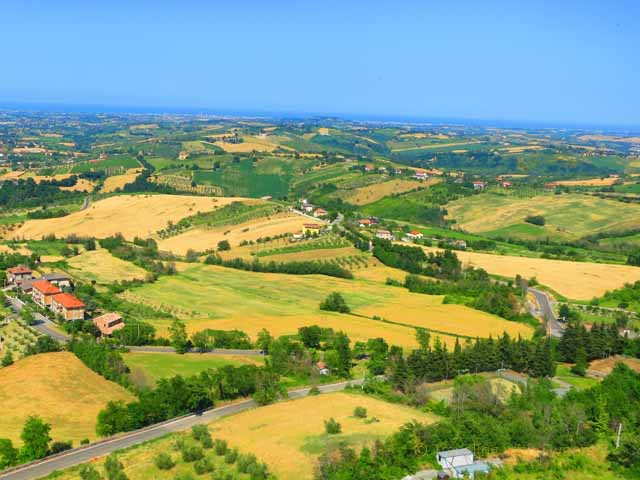 """""""View of the valley from Malatesta Fortress in Verucchio, Italy"""""""
