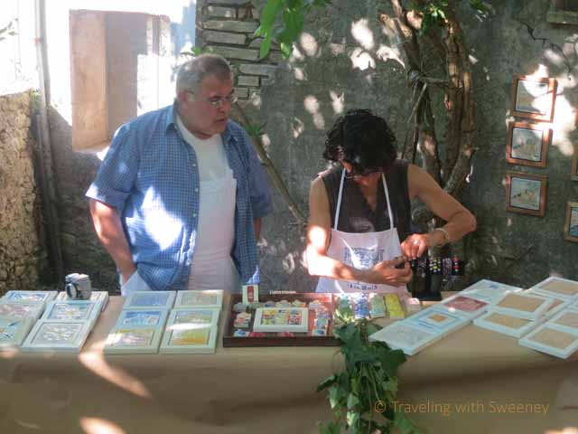 """Arts and crafts booth at Fest al Lavetorio Borgo S. Antonio, Verucchio 2013"""
