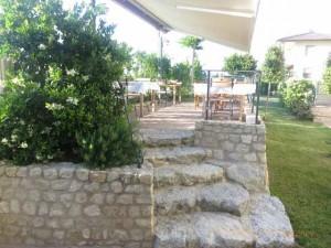 """""""Back patio at Il Casale della'Arte in Verucchio, Italy"""""""