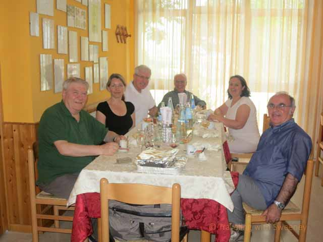 """Our host, Giancarlo Dall'Ara and friends from Sant'Agata Feltria"""