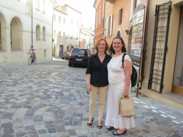 """""""Silvia Santolini and Alessandra Catania in Verucchio"""""""