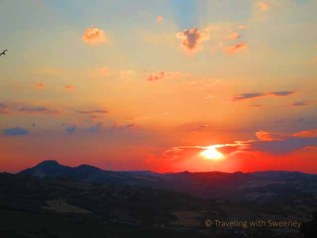 """Sunset over the Apennines from Verucchio"""
