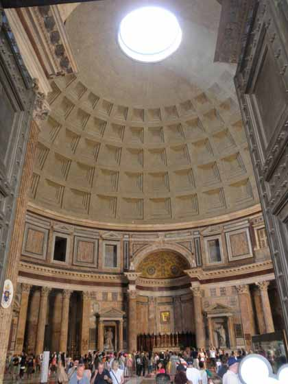 """The oculus inside the Pantheon, Rome"""