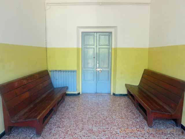 """Fognano Italy railway station waiting room"""
