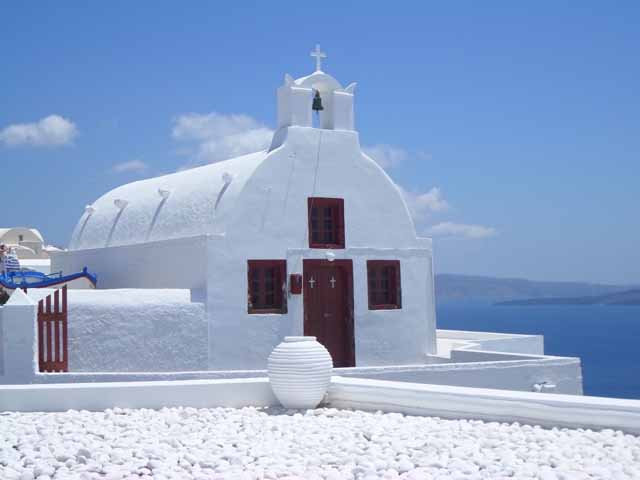 """Churches in Santorini - a sight to behold"""