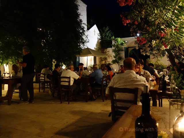 """Masseria Il Frantoio courtyard at night"""
