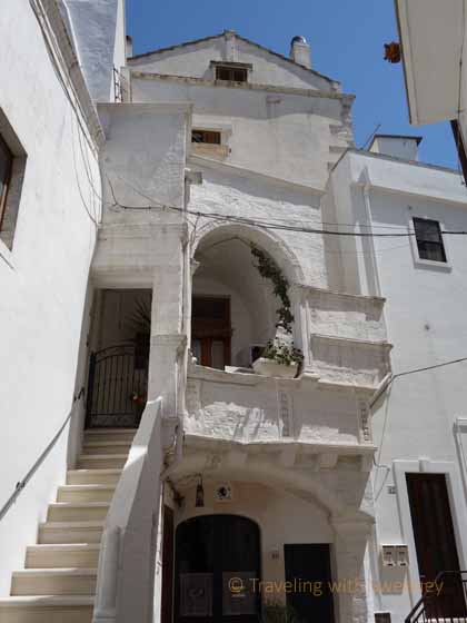 """Steep steps leading to a home in the historic center of Cisternino"""