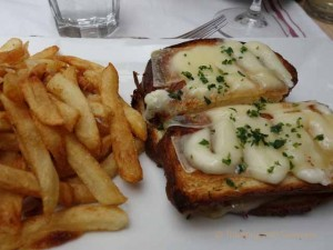 """Croque Monsieur at Casanova restaurant in Carmel, California"""